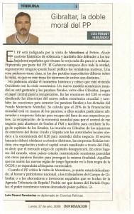 Gibraltar, la doble moral del PP (dos)