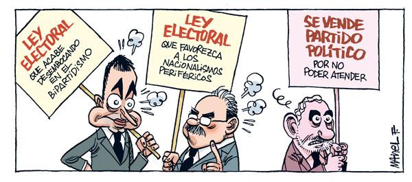 SE IMPONE OTRA REFORMA, LA LEY ELECTORAL.